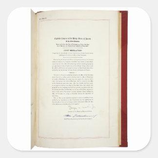ORIGINAL 22nd Amendment U.S. Constitution Square Sticker