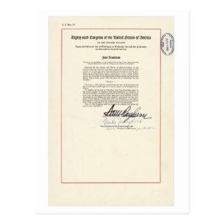 ORIGINAL 23rd Amendment U.S. Constitution Postcard