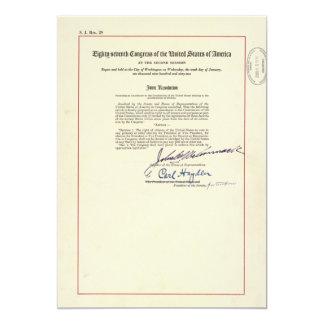 ORIGINAL 24th Amendment U.S. Constitution Card