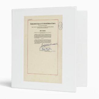 ORIGINAL 24th Amendment U.S. Constitution Vinyl Binder