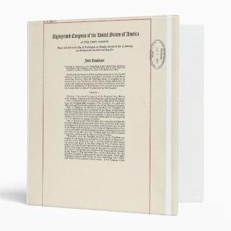 ORIGINAL 25th Amendment U.S. Constitution 3 Ring Binder