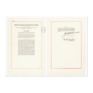 ORIGINAL 25th Amendment U.S. Constitution Canvas Print