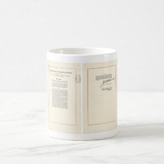 ORIGINAL 25th Amendment U.S. Constitution Classic White Coffee Mug