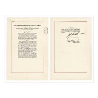 ORIGINAL 25th Amendment U.S. Constitution Postcard