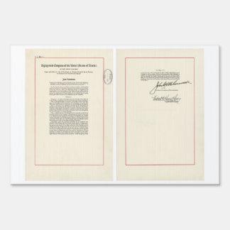 ORIGINAL 25th Amendment U S Constitution Yard Signs