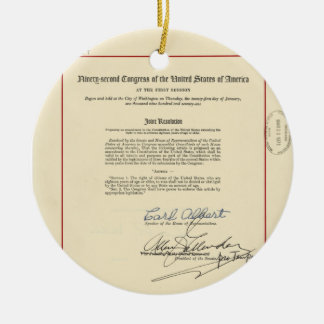 ORIGINAL 26th Amendment U.S. Constitution Ceramic Ornament