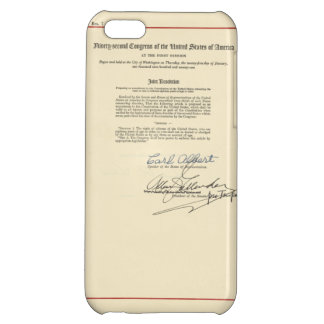 ORIGINAL 26th Amendment U.S. Constitution iPhone 5C Case