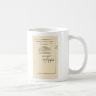 ORIGINAL 26th Amendment U.S. Constitution Classic White Coffee Mug