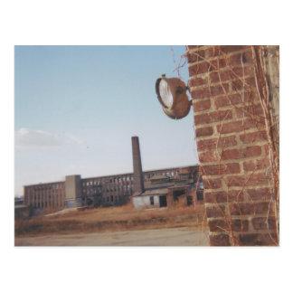 Original 35 mm Abandoned building Postcard