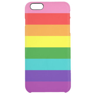 Original 8-Stripe LGBT Gay Pride Rainbow Flag Clear iPhone 6 Plus Case