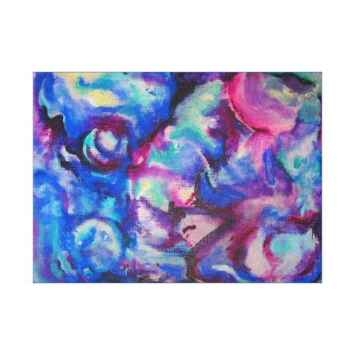 Original Abstract Art Colorful Expressionism Canvas Print