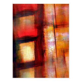 Original Abstract Art Postcard