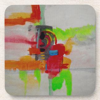 Original Abstract Artwork Beverage Coaster