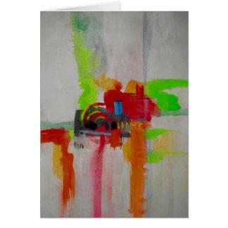 Original Abstract Artwork Card