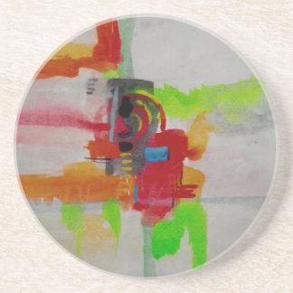 Original Abstract Artwork Sandstone Coaster