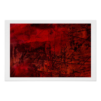 Original Abstract Canvas Print - Red Abstract Art