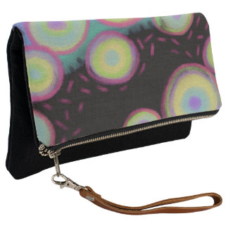 Original Abstract Digital Painting Clutch