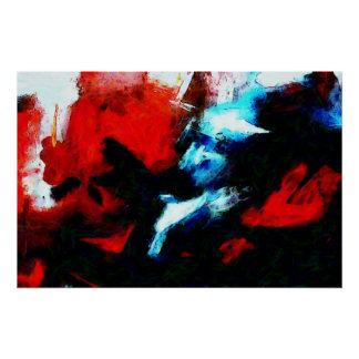 Original Abstract Expressionist Art Print Poster