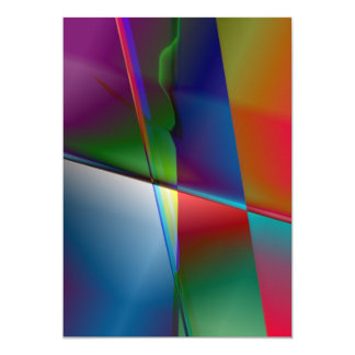 "Original Abstract 5"" X 7"" Invitation Card"