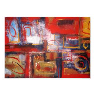 Original Abstract Painting Art Invitation