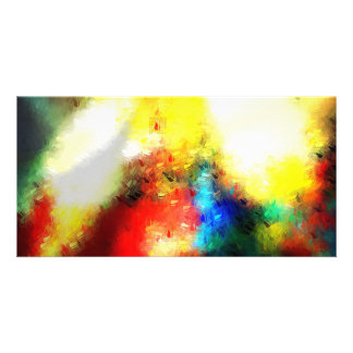 Original Abstract Painting Personalized Photo Card