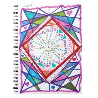 Original Abstract Pink Blue Green Journal