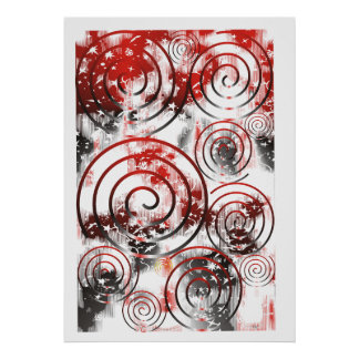Original Abstract The Top black/red/white Poster