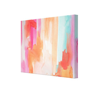 Original abstract whimiscal watercolor art canvas print