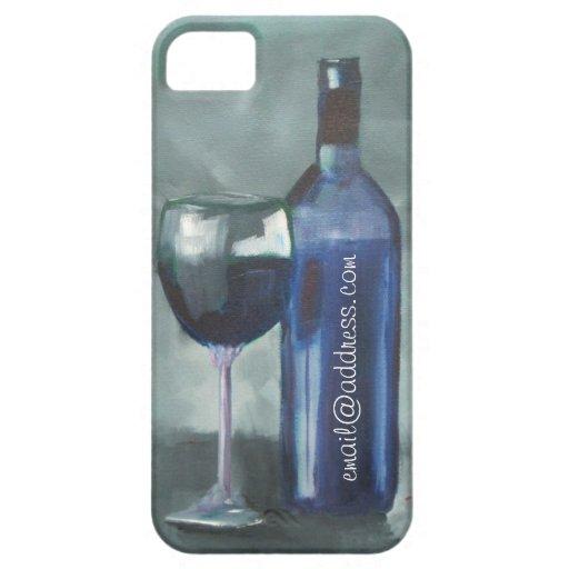 Original adaptable de la caja de la copa de vino y iPhone 5 Case-Mate carcasas