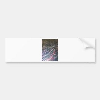 original alien landscape techno artist view bumper sticker