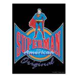 Original americana del superhombre tarjetas postales