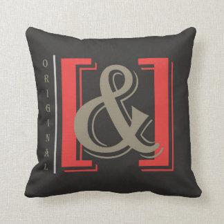 original ampersand throw pillow, dark design – pillow