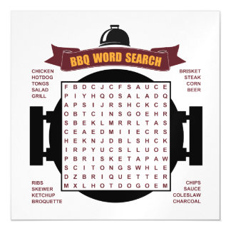 Original and fun BBQ party word search puzzle... Magnetic Card