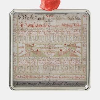 Original Arrangement Plan Metal Ornament
