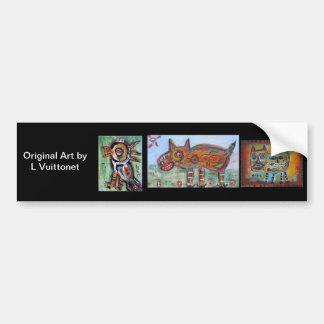 Original Art Car Bumper Sticker