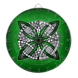 Original Art Celtic Knot Green Dart Board