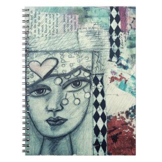 Original art, collage, mixed media, notebook