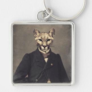 Original Art Cougar Keychain