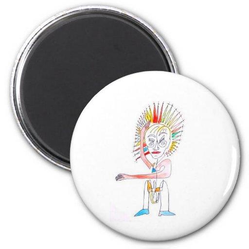 Original Art for Kids 2 Inch Round Magnet