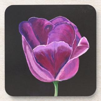 Original Art Midnight Tulip Square Coaster Set