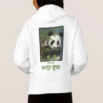 Original Art Panda Bear Girls Hoodie