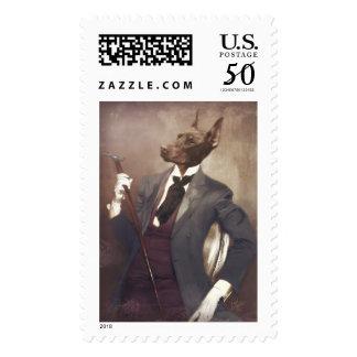 """Original Art Postage Stamp """"One Snazzy Dobie"""""""