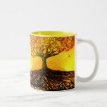 Original Art-Roots Run Deep Coffe Mug Two-Tone Mug
