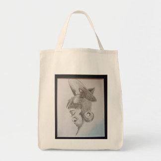 Original art tote canvas bag