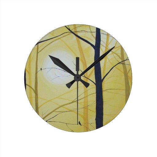 Wall Clock Artwork : Original art wall clock zazzle