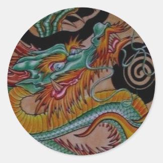original art work riton tattoo classic round sticker