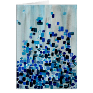 Original Artwork - Blue Fractions of Light Card