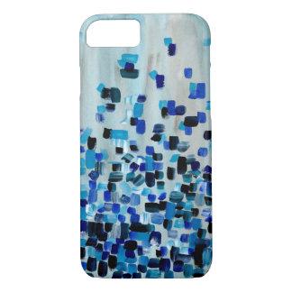 Original Artwork - Blue Fractions of Light iPhone 7 Case