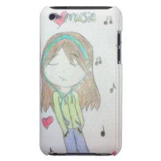 Original Artwork Ipod Touch Case - Music Girl at Zazzle
