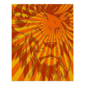 Original Artwork Lion Poster 16 x 20